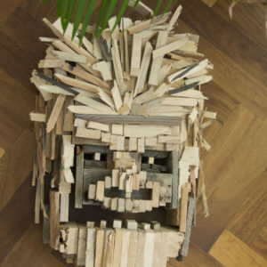 houten sculptuur gorilla