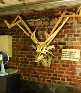 reclaimed wooden deer